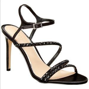 Black Satin Badgely Mischka heels
